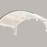 Oblouková stříška RETRO bílá